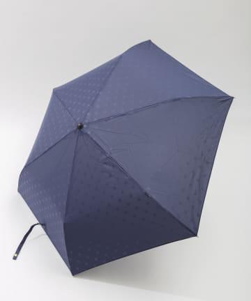 3COINS(スリーコインズ) 【一部店舗限定】晴雨兼用折傘ドットエンボス