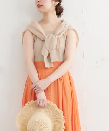 natural couture(ナチュラルクチュール) 【WEB限定】ほんのりシアーカーデ+タンクセット