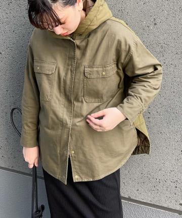 Jena espace merveilleux(ジェナ エスパスメルヴェイユ) バイオウォッシュキルティングジャケット