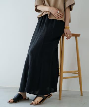 Loungedress(ラウンジドレス) リネンマキシスカート