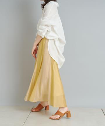 Jena espace merveilleux(ジェナ エスパスメルヴェイユ) 配色フレアロングスカート