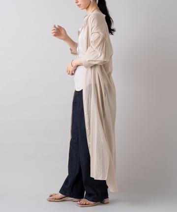 Loungedress(ラウンジドレス) バックデザインシャツワンピース