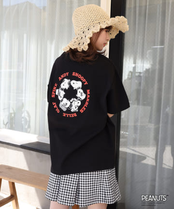 one after another NICE CLAUP(ワンアフターアナザー ナイスクラップ) スヌーピー/バックモチーフTシャツ