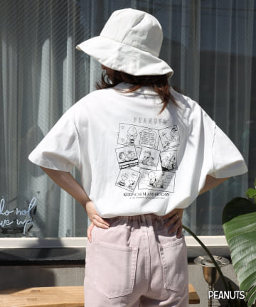 one after another NICE CLAUP(ワンアフターアナザー ナイスクラップ) スヌーピー/バックプリントTシャツ