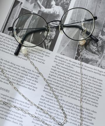 3COINS(スリーコインズ) 【マスクや眼鏡におすすめ】マルチストラップ/イビツパール