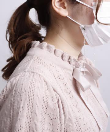 3COINS(スリーコインズ) 【マスクや眼鏡におすすめ】マルチストラップ/パールチェーン