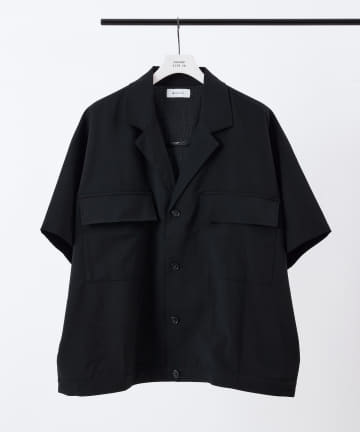 COLONY 2139(コロニー トゥーワンスリーナイン) TRストレッチラペルド半袖シャツ(セットアップ可)/ビッグシルエットシャツ