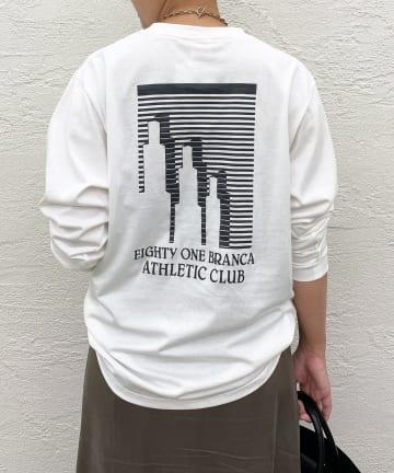 Loungedress(ラウンジドレス) 【+81BRANCA/ハチイチブランカ】THLETIC CLUB Tシャツ