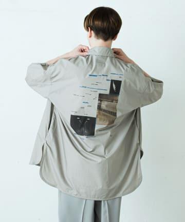 Lui's(ルイス) 5分袖グラフィックプリントシャツ