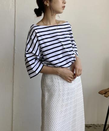 CAPRICIEUX LE'MAGE(カプリシュレマージュ) ボーダーワイドTシャツ