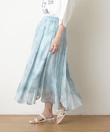 NICE CLAUP OUTLET(ナイスクラップ アウトレット) タイダイ柄スカート