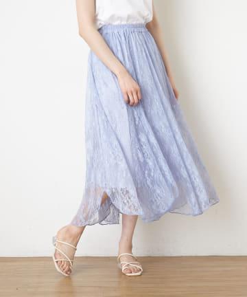 NICE CLAUP OUTLET(ナイスクラップ アウトレット) 花柄チュールレーススカート