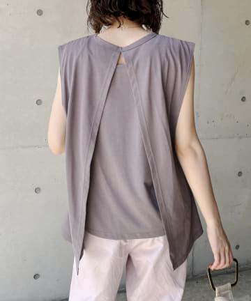 CAPRICIEUX LE'MAGE(カプリシュレマージュ) 〈WEB限定〉バックスリットレイヤードTシャツ