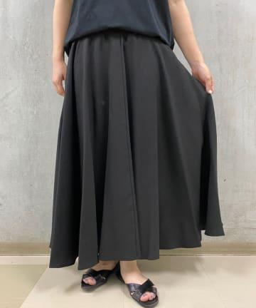 BEARDSLEY(ビアズリー) 麻調合繊ウエストジャージースカート