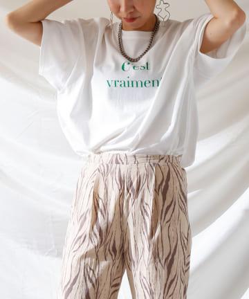 Thevon(ゼヴォン) カラーロゴビッグTシャツ