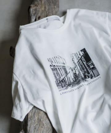 prose verse(プロズヴェール) オーガニックコットンロゴ刺繍転写Tシャツ