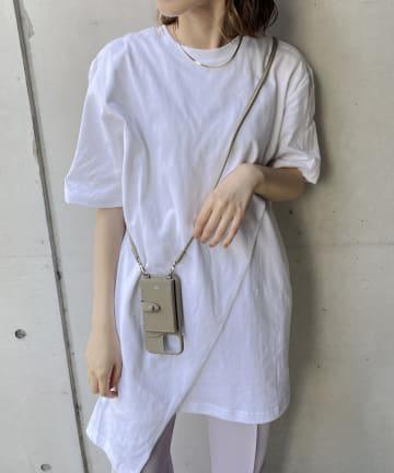 CAPRICIEUX LE'MAGE(カプリシュレマージュ) 【adidas/アディダス】アシメ重ねTシャツ
