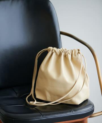 GALLARDAGALANTE(ガリャルダガランテ) 【MODERN WEAVING】ラムレザー巾着バッグ