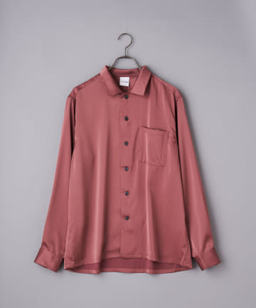 OUTLET(アウトレット) 【Ciaopanic】ライトサテンオーバーサイズシャツ