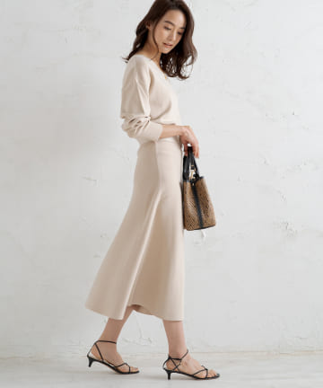 OUTLET(アウトレット) 【Loungedress】総針2WAYワンピース