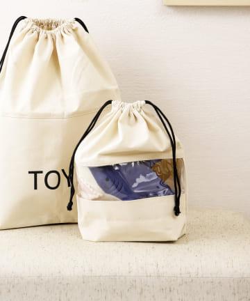 3COINS(スリーコインズ) 【いっしょにお片付け】窓付きストレージバッグ