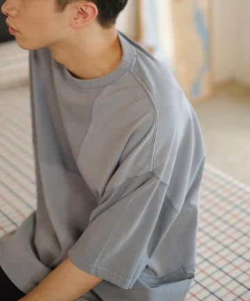 Kastane(カスタネ) 【WHIMSIC】GARMENT DYE PATCH WORK T-SHIRTS