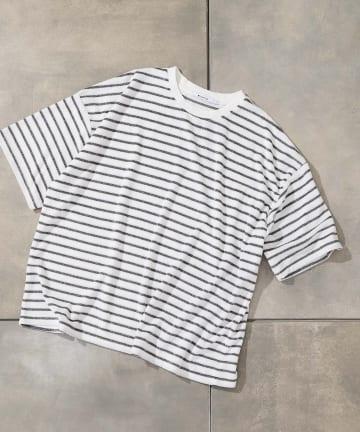 COLONY 2139(コロニー トゥーワンスリーナイン) 【MEN'S】パイルボーダーBIG Tシャツ/ルームウェア(セットアップ可)