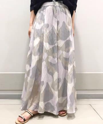 BEARDSLEY(ビアズリー) カモフラフレアスカート