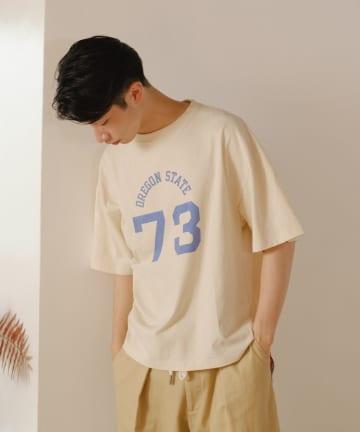 Kastane(カスタネ) 【WHIMSIC】MALTI LOGO DESIGN PRINT TEE