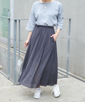 COLLAGE GALLARDAGALANTE(コラージュ ガリャルダガランテ) 【ふんわりとリズミカルなスカート】シアーカットギャザースカート