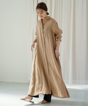 Loungedress(ラウンジドレス) リネンシャツワンピース