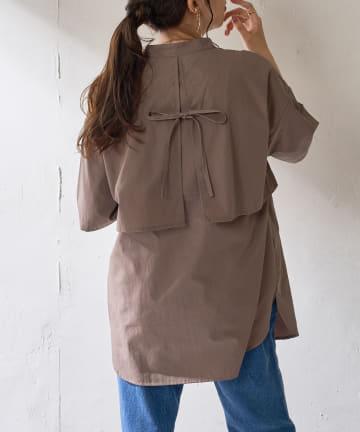 Discoat(ディスコート) 【WEB限定】ケープカラーシャツ
