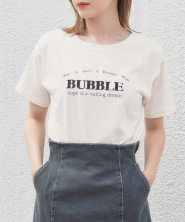 one after another NICE CLAUP(ワンアフターアナザー ナイスクラップ) 刺繍ロゴTシャツ