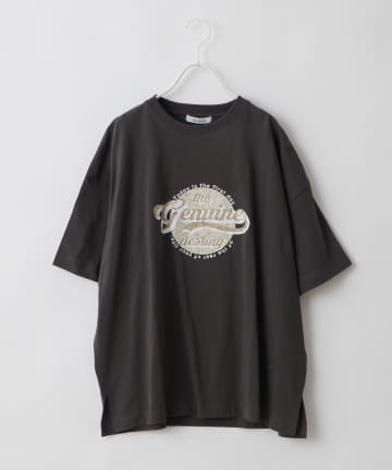 NICE CLAUP OUTLET(ナイスクラップ アウトレット) 【NUNIFE】古着風ロゴ BIG T