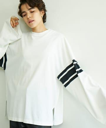 GALLARDAGALANTE(ガリャルダガランテ) 【R JUBILEE】ラインロングTシャツ/別注