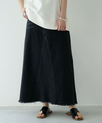 Loungedress(ラウンジドレス) デニムマキシスカート