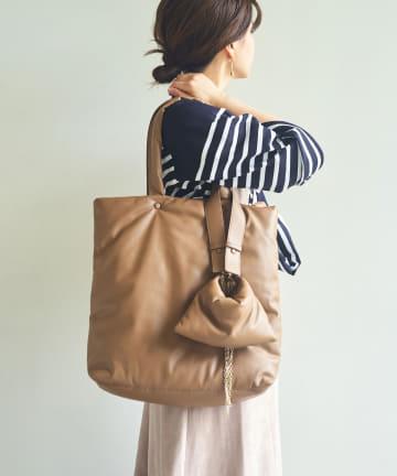 GALLARDAGALANTE(ガリャルダガランテ) ミニバッグ付きパフィートートバッグ