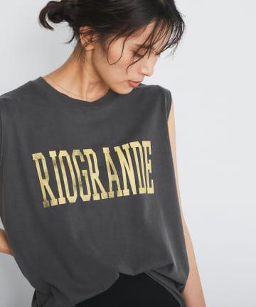 RIVE DROITE(リヴドロワ) 【《GOOD ROCK SPEED》洗える】ピグメントノースリロゴTシャツ
