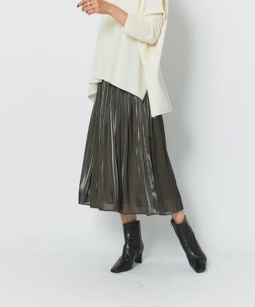 RIVE DROITE(リヴドロワ) 【動くたびに揺れる絶妙フレア】リキッドギャザースカート