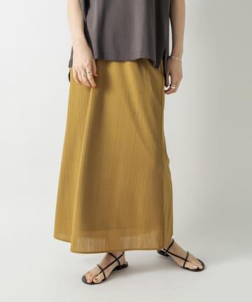RIVE DROITE(リヴドロワ) 【大人の女性らしさを演出】テレコナロースカート