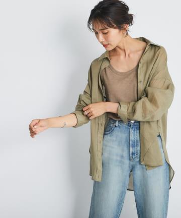 RIVE DROITE(リヴドロワ) 【レイヤー使い出来る大人のこなれシャツ】綿麻シャツ
