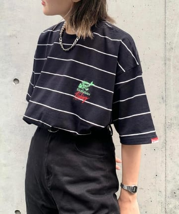 WHO'S WHO gallery(フーズフーギャラリー) 【Sourcream/サワークリーム】FISHボーダーTEE