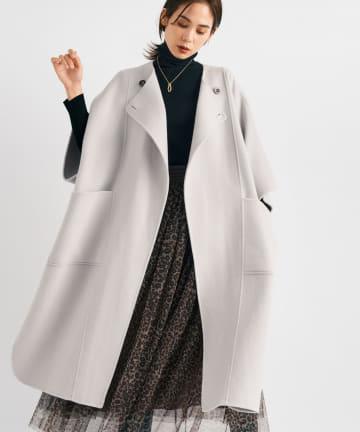 La boutique BonBon(ラブティックボンボン) 【着るだけで今どき旬コーデ】ポンチョロングコート