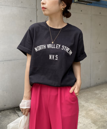 CAPRICIEUX LE'MAGE(カプリシュレマージュ) N.V.S.カレッジTシャツ