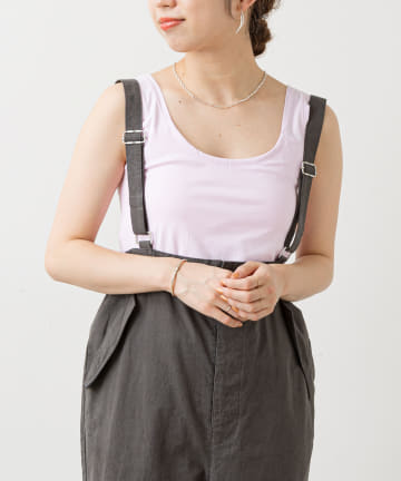 Omekashi(オメカシ) カップ付きフラットシームタンクトップ