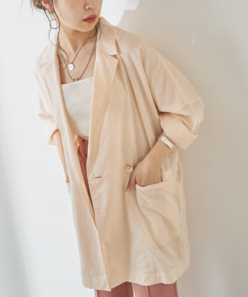 who's who Chico(フーズフーチコ) 【新色追加】シアーシャツジャケット