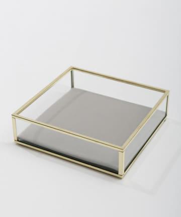 3COINS(スリーコインズ) ベロアクッションガラストレイ四角