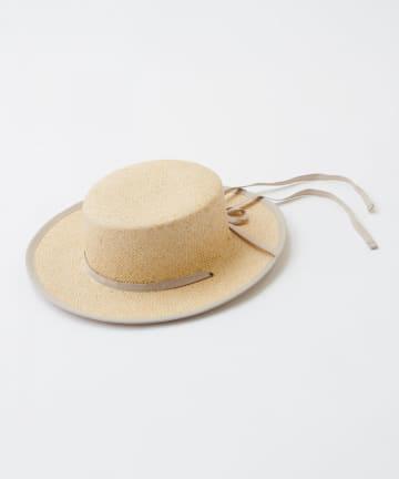natural couture(ナチュラルクチュール) ロングリボンペーパー織りカンカンハット