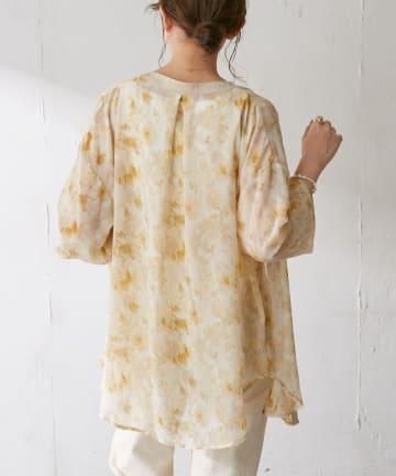 Discoat(ディスコート) 【WEB限定】シアープリント配色カラーシャツ