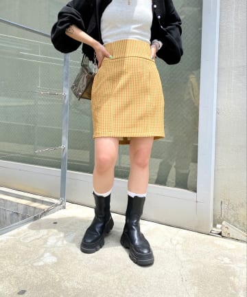 WHO'S WHO gallery(フーズフーギャラリー) カマーバンドミニスカート
